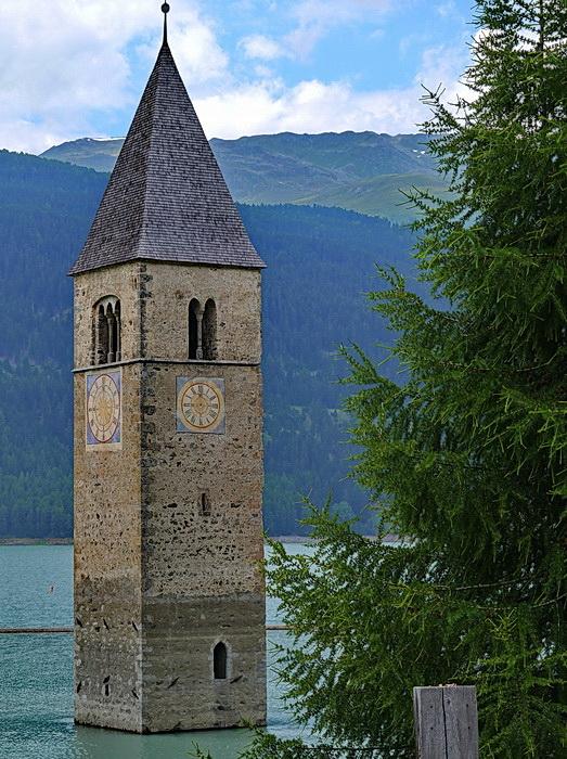 Turm vom Reschensee
