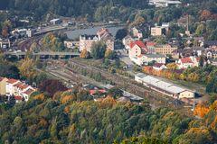 Turmblick auf den Bahnhof Löbau