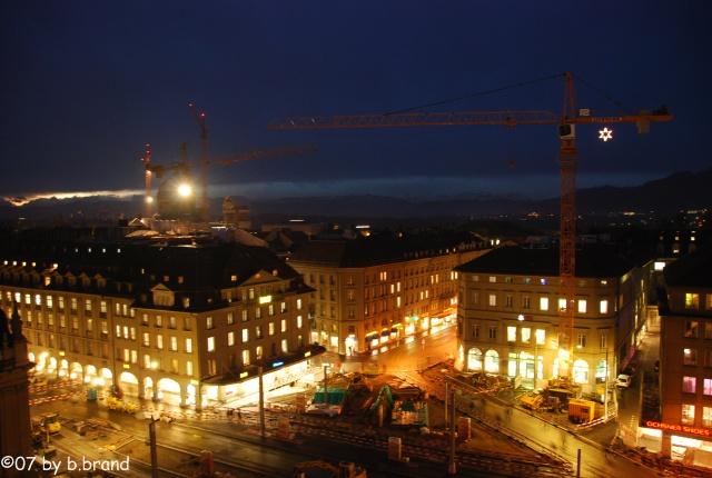 Turmdrehkrane in Bern an Weihnachten 07