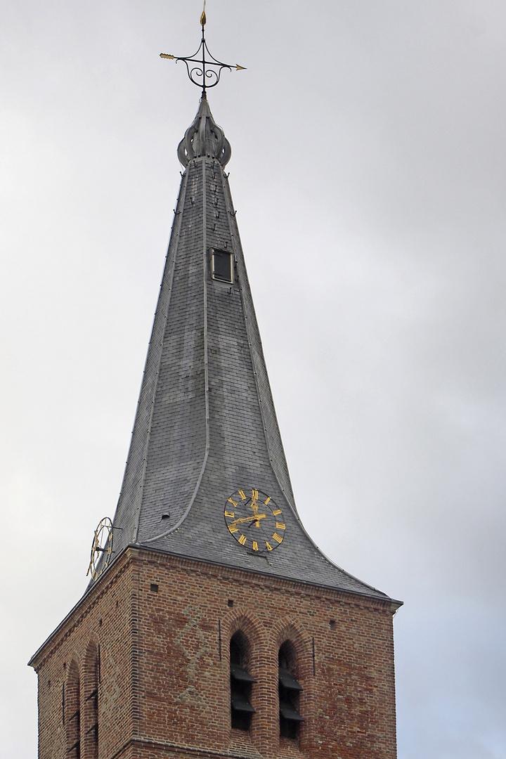 Turmspitze der Protestantischen Kirche zu Domburg (Zeeland, NL)