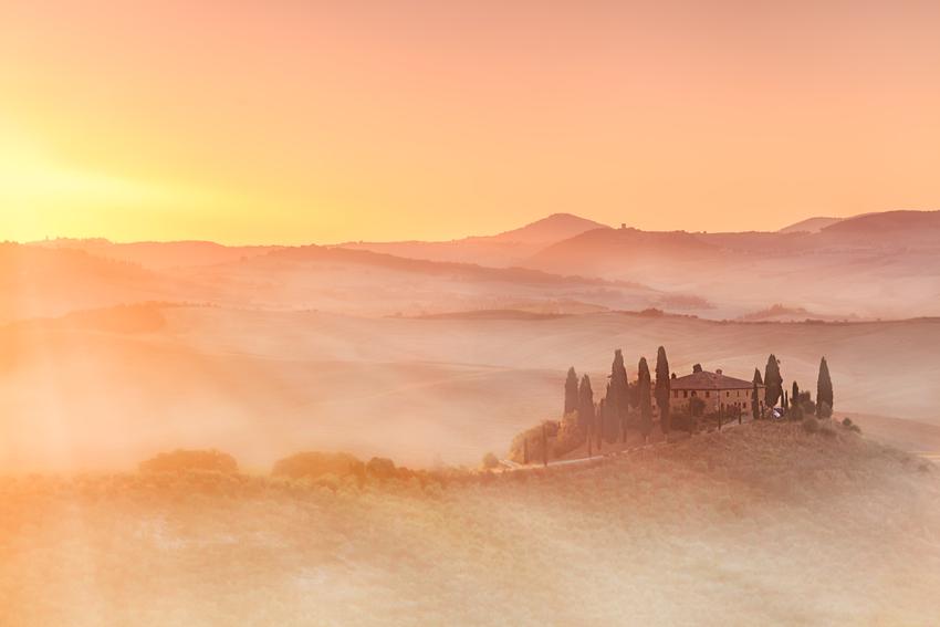 tuscany sunrays