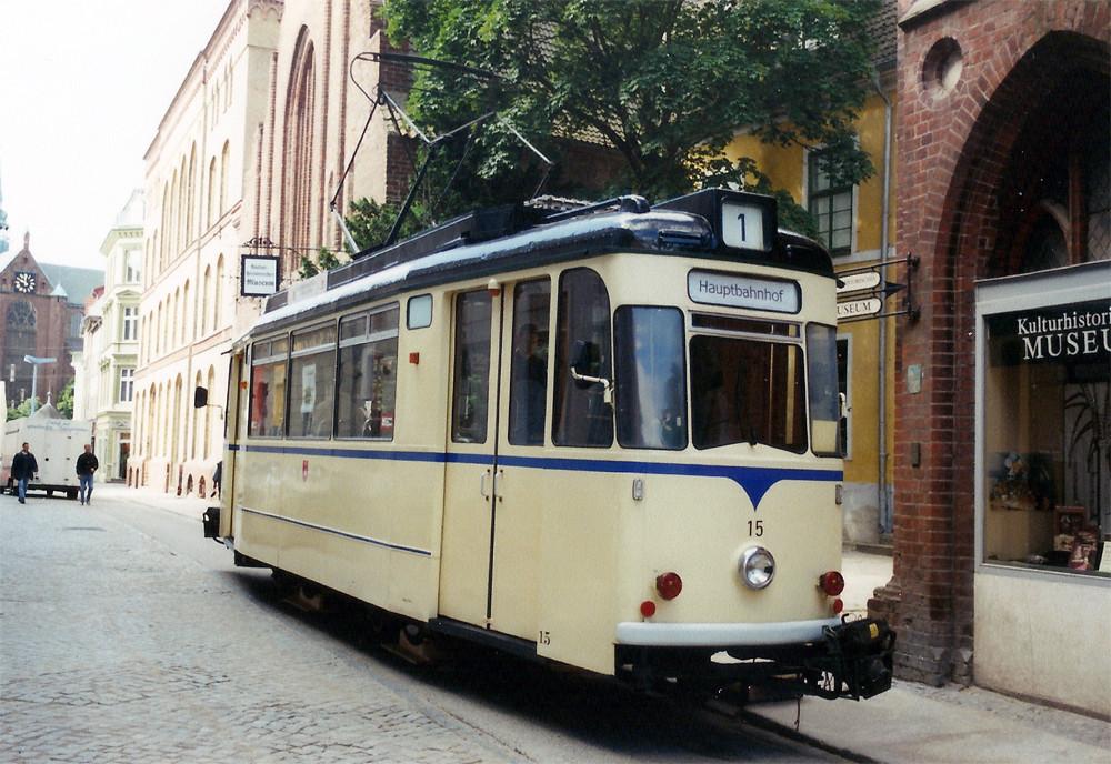 TW 15 wieder in Stralsund - Endlich wieder Straßenbahn in HST!!!!