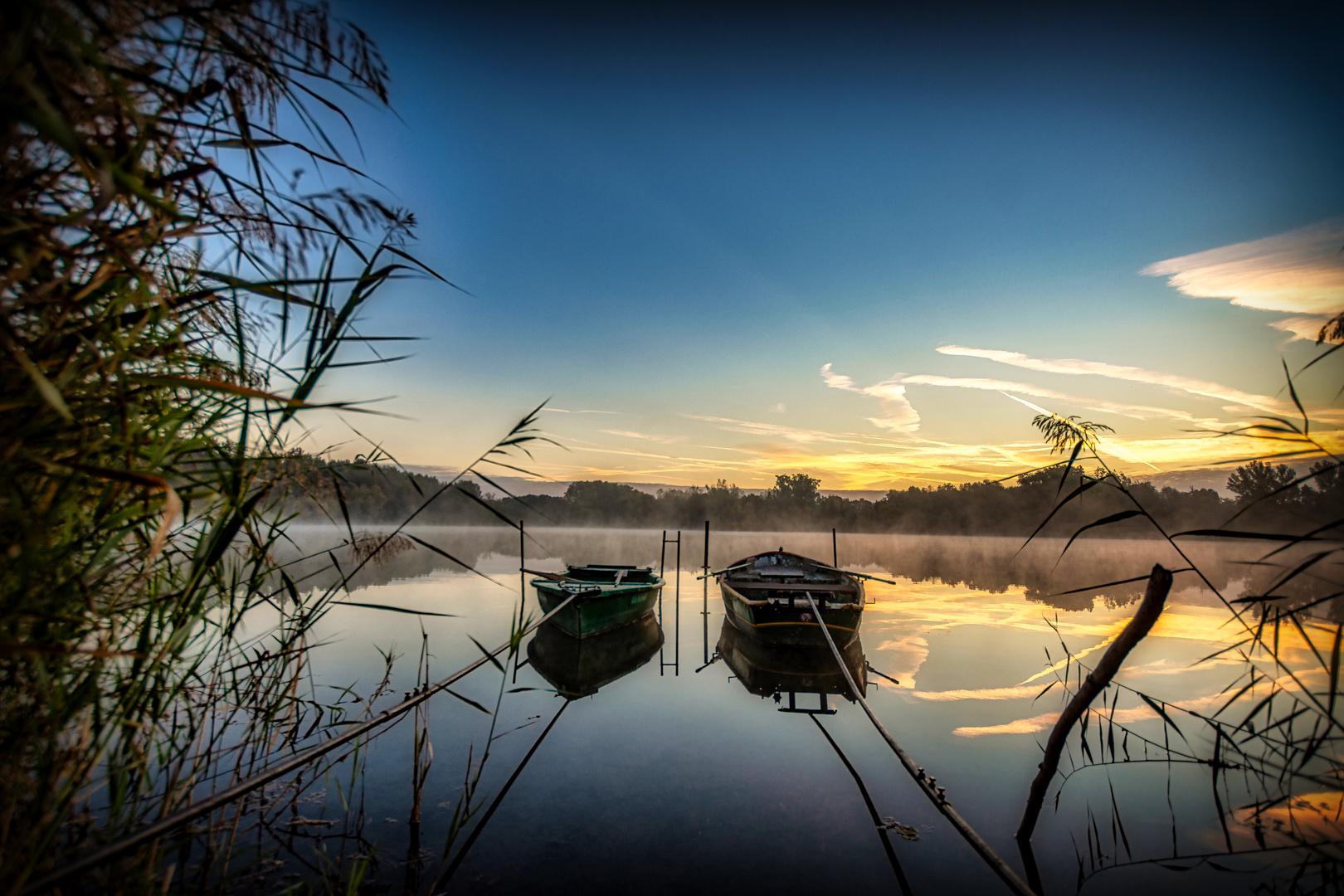 Tween boats in fog . . .