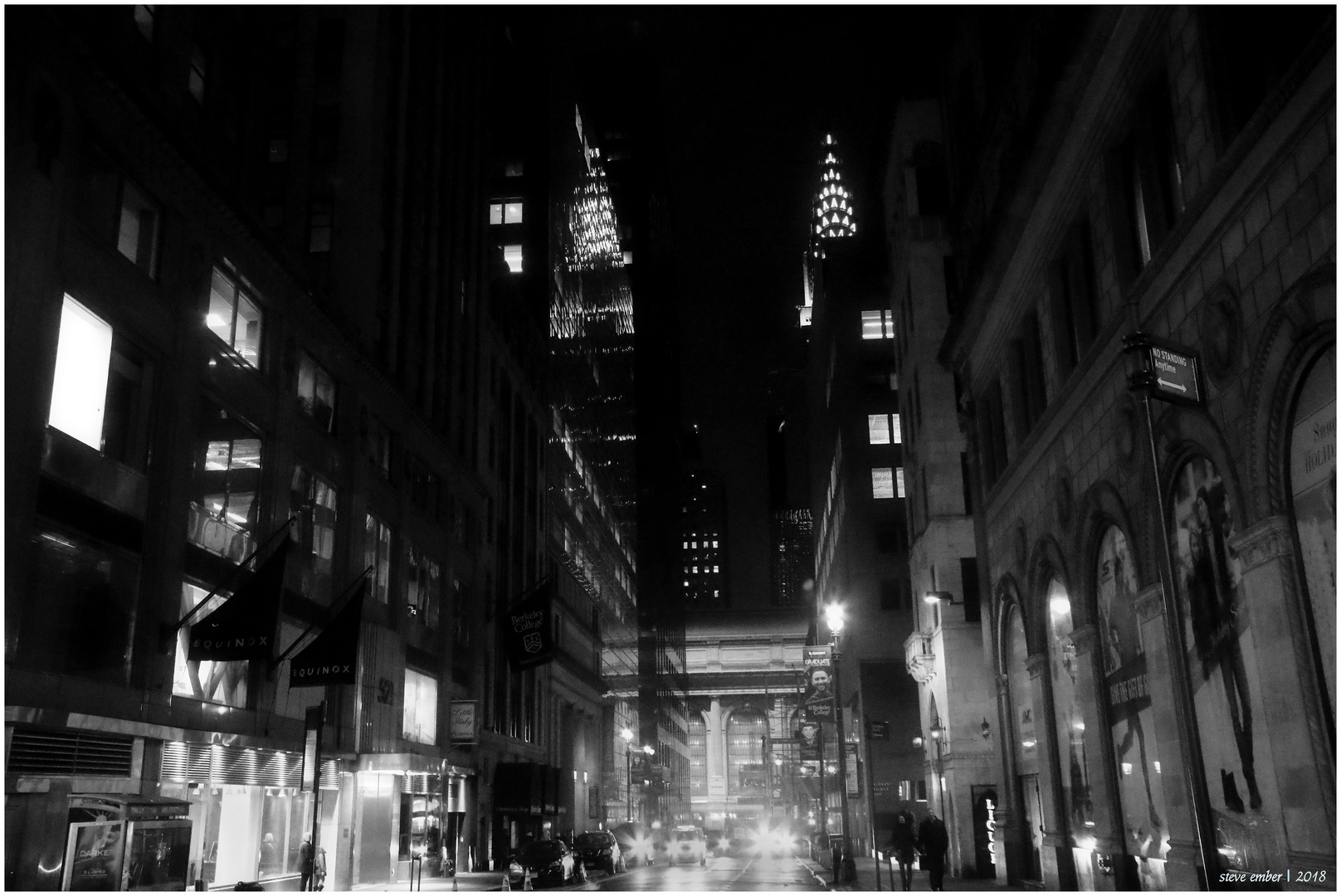 Twin Chryslers on a Wintry Night - a Midtown Nightscape
