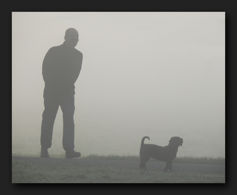 ... two figures came out of the fog
