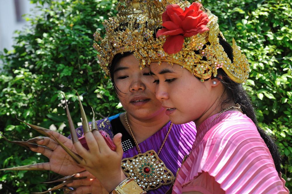 Two Girls at Wat Arun