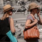 two hats and two bags