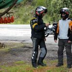 Two tourists motorcyclist