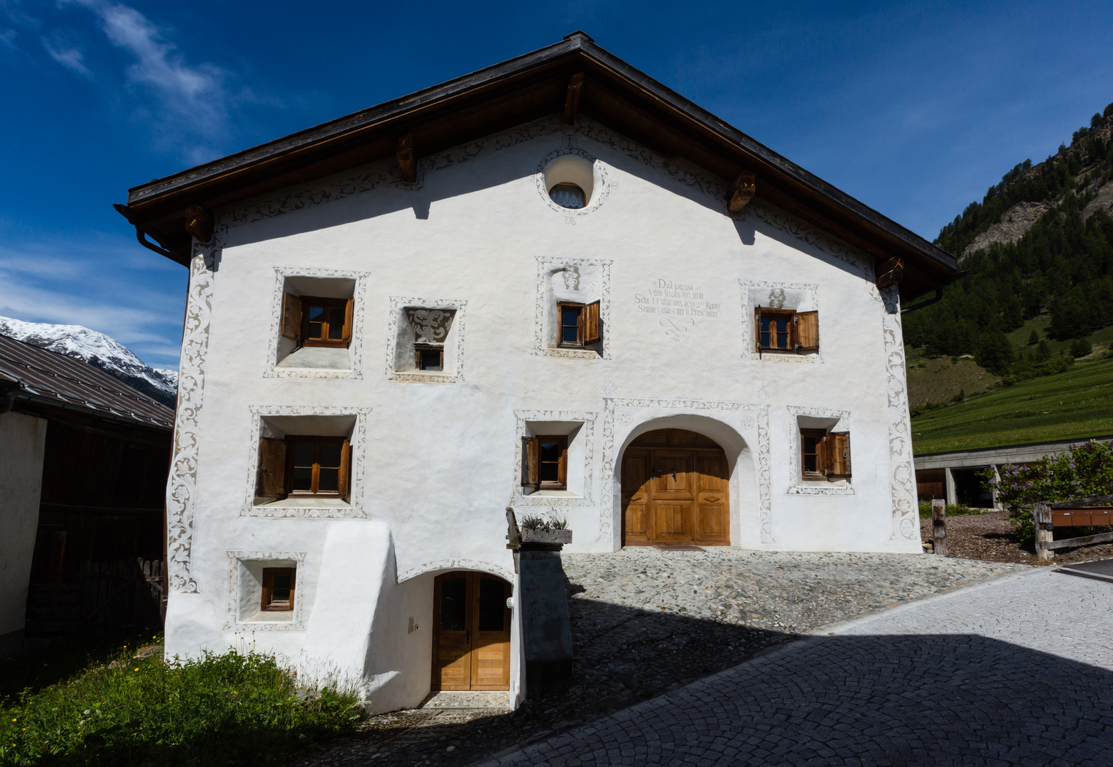 Typisches Engadiner Haus Ii Foto Bild Europe Schweiz