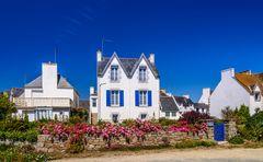 Typisches Haus, Lesconil, Bretagne, France