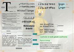 Typografie mit dem gelben Bär Poster A3 <ENTWURF>