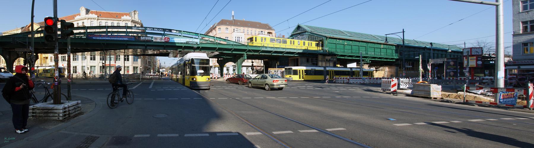 U-Bahnhof Eberswalder Strasse in der Morgensonne Reload 2
