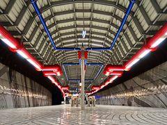 U-Bahnstation in Gelsenkirchen zu Coronazeiten