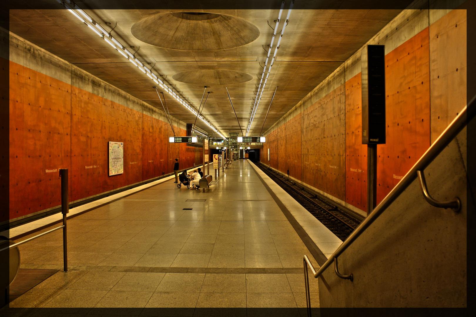 U-Bahnstation in München Messe