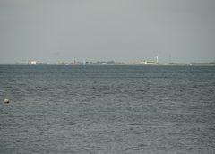 Über 10 km Luftlinie zwischen der Insel Föhr und dem Festland
