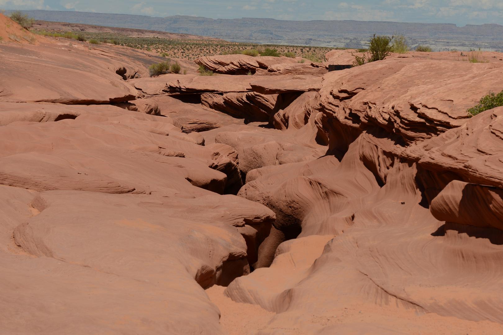 Über dem Antelope Canyon