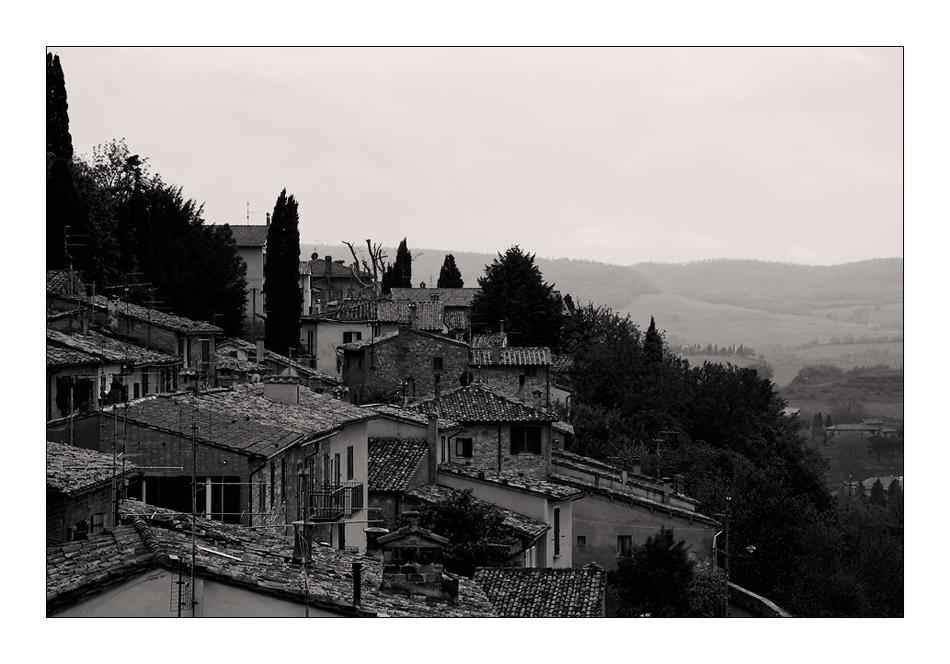 über den Dächer von Montepulciano