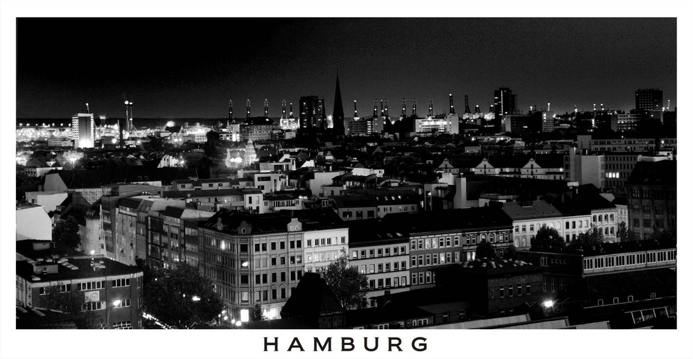 Über den Dächern Hamburgs ...