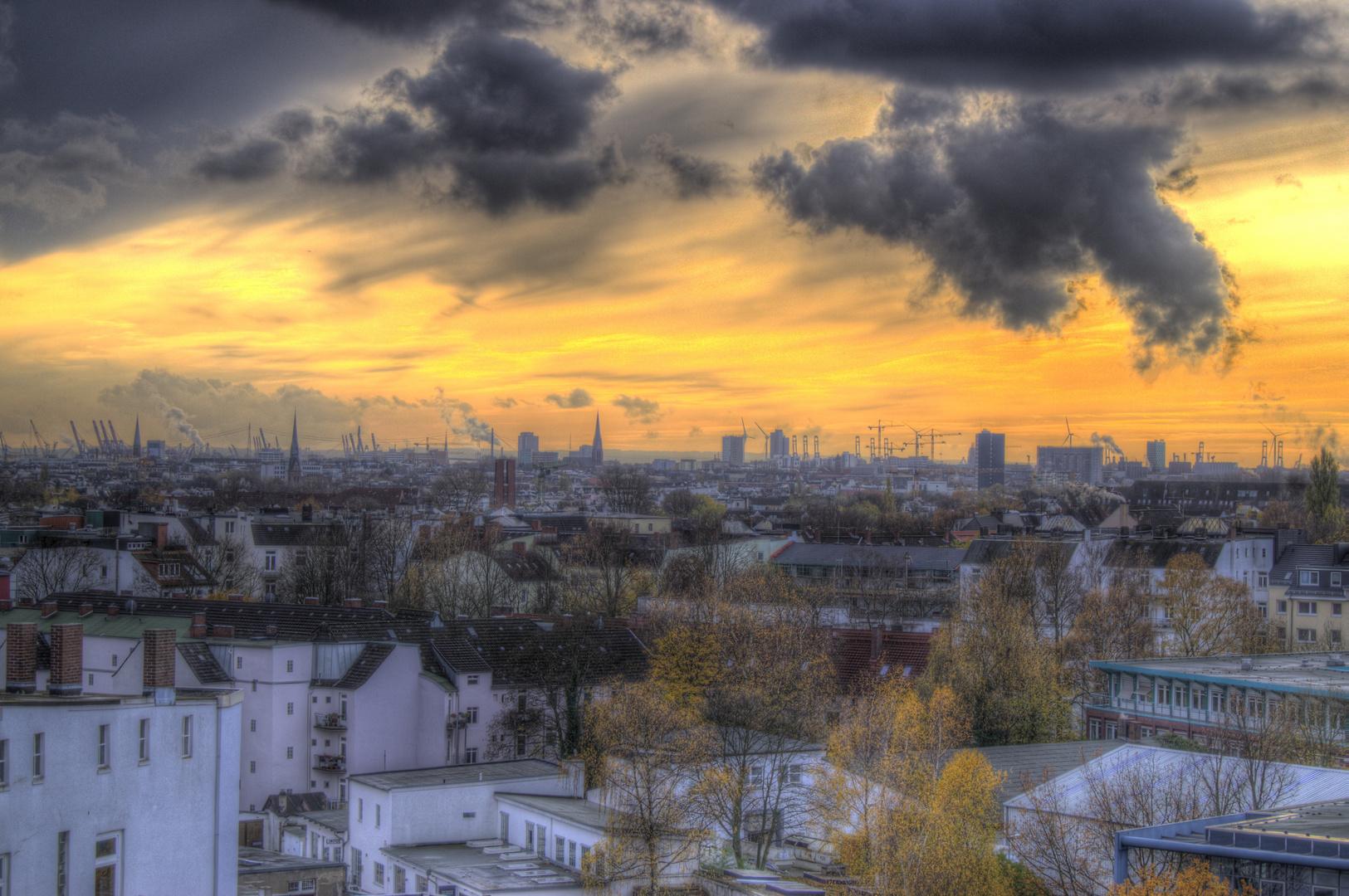 Über den Dächern Hamburgs HDR