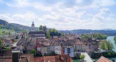 Über den Dächern von Laufenburg (Baden) ...