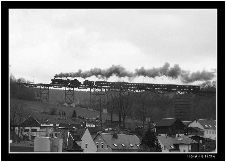 Über den Dächern von Markersbach...