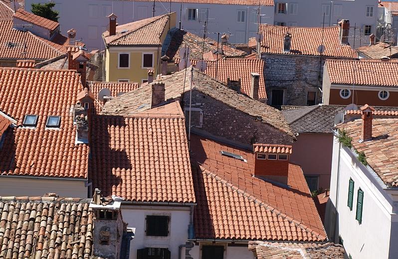 Über den Dächern von Porec