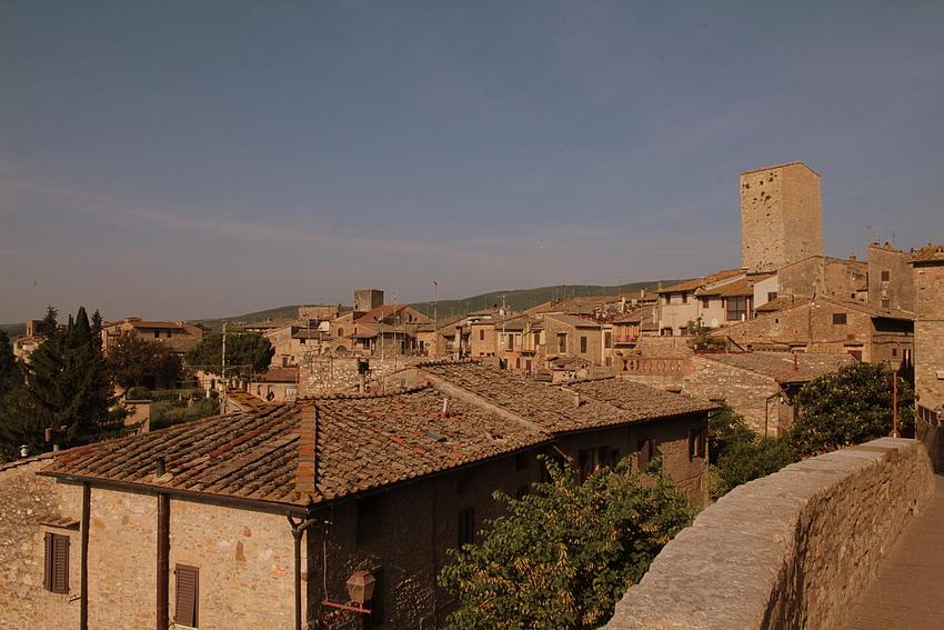 Über den Dächern von San Gimignano/Toskana