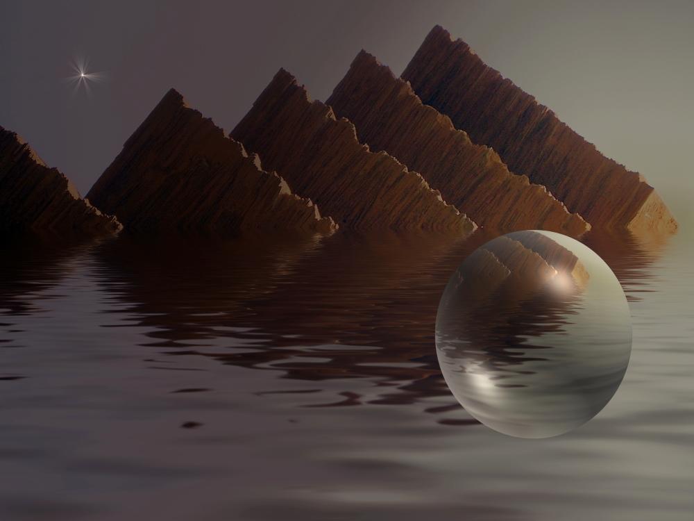...über den Wassern schwebt Schweres. von Bernhard Fuchs