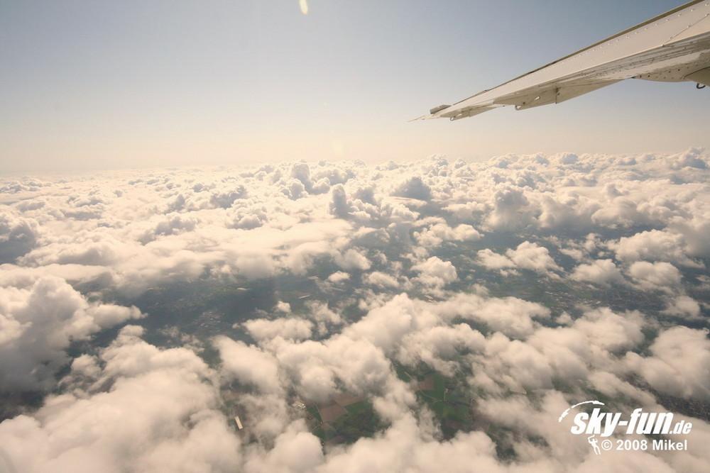 über den Wolken ist immer schönes Wetter...