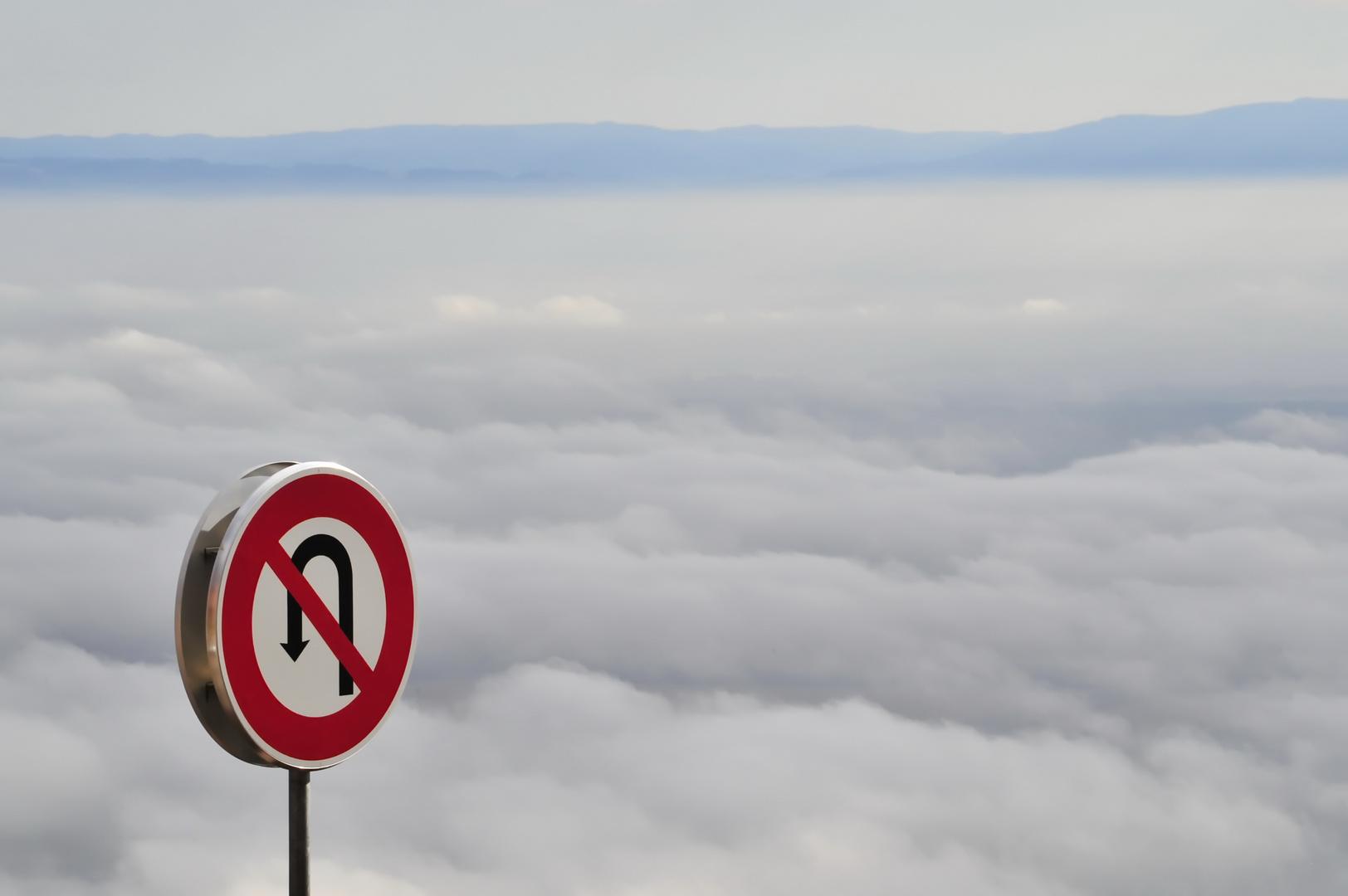 Über den Wolken .... ist wenden verboten