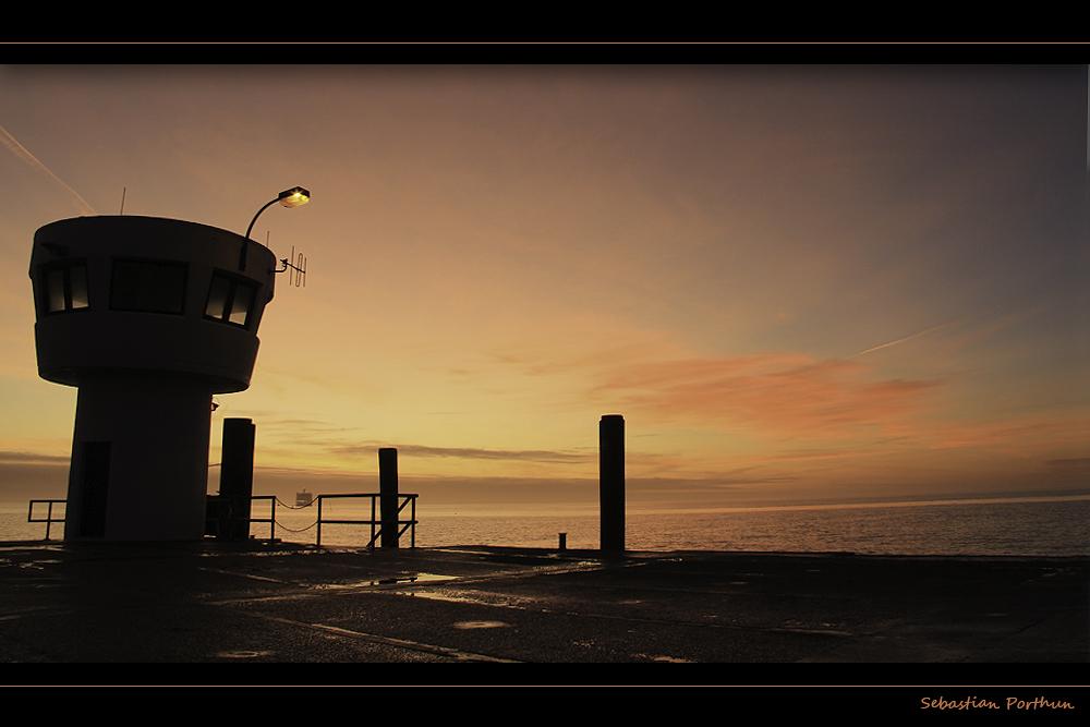 ...über der Nordsee...