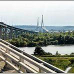 Über die berühmte Brücke in Richtung St. Malo