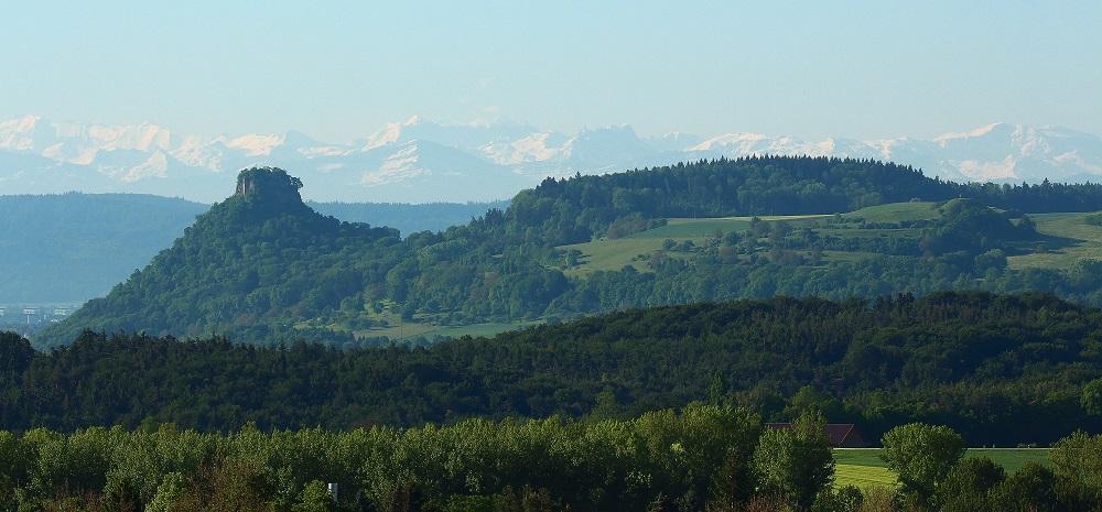 über die Hegau in die Alpen