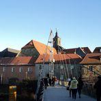 Über diese Brücke musst Du gehen  vom Rotmaincenter zum Marktplatz Bayreuth