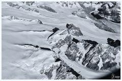 Überflug Grönland in S/W