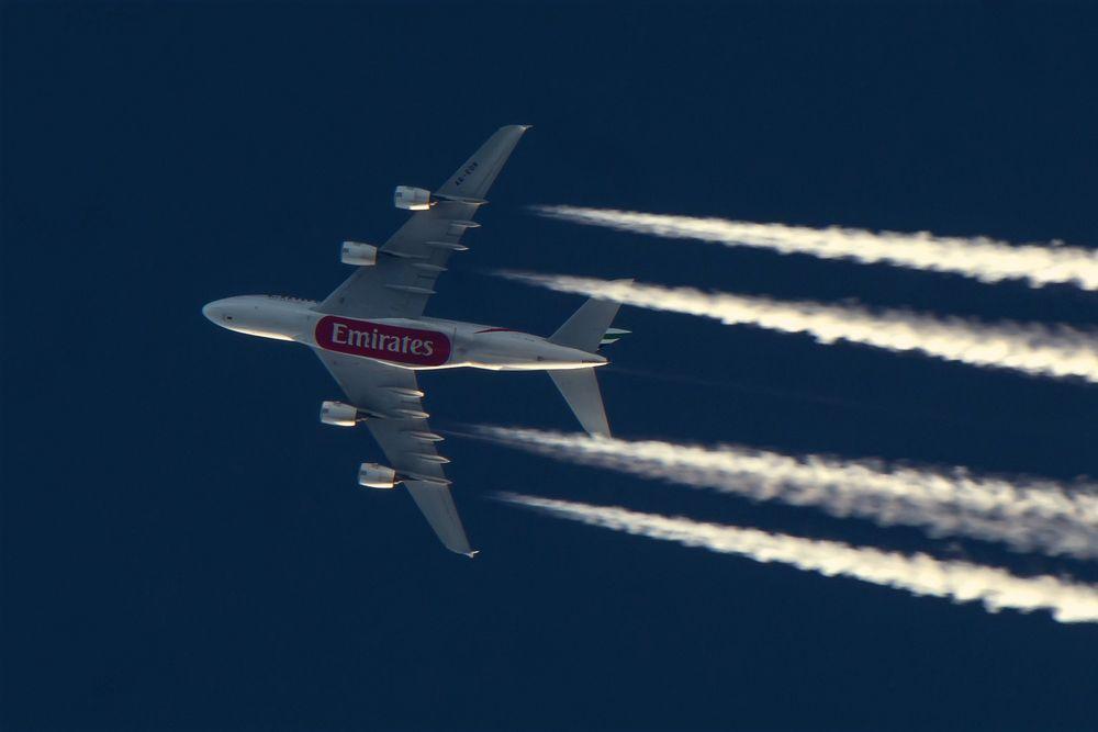 Überflug in 11.000 Metern Höhe