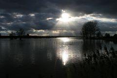 überflutete Wiesen und Felder in Bokeloh (Wunstorf)