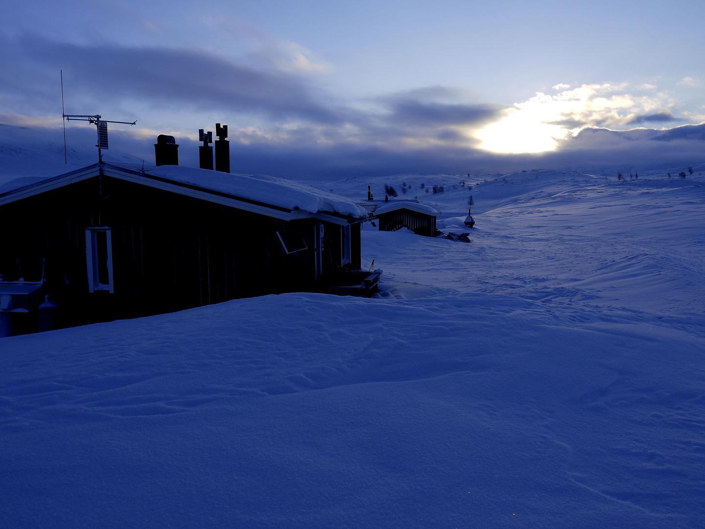 Übernachtung in Pieksehaure am 2. Tag in schwedisch Lappland