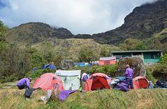 Übernachtungsort auf dem Inka-Trail nach Machu Picchu