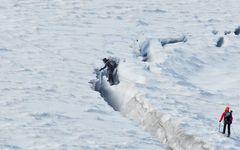 Überquerung der Gletscherspalte
