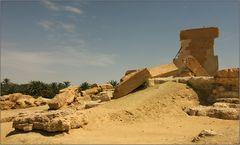 überreste des orakels von siwa