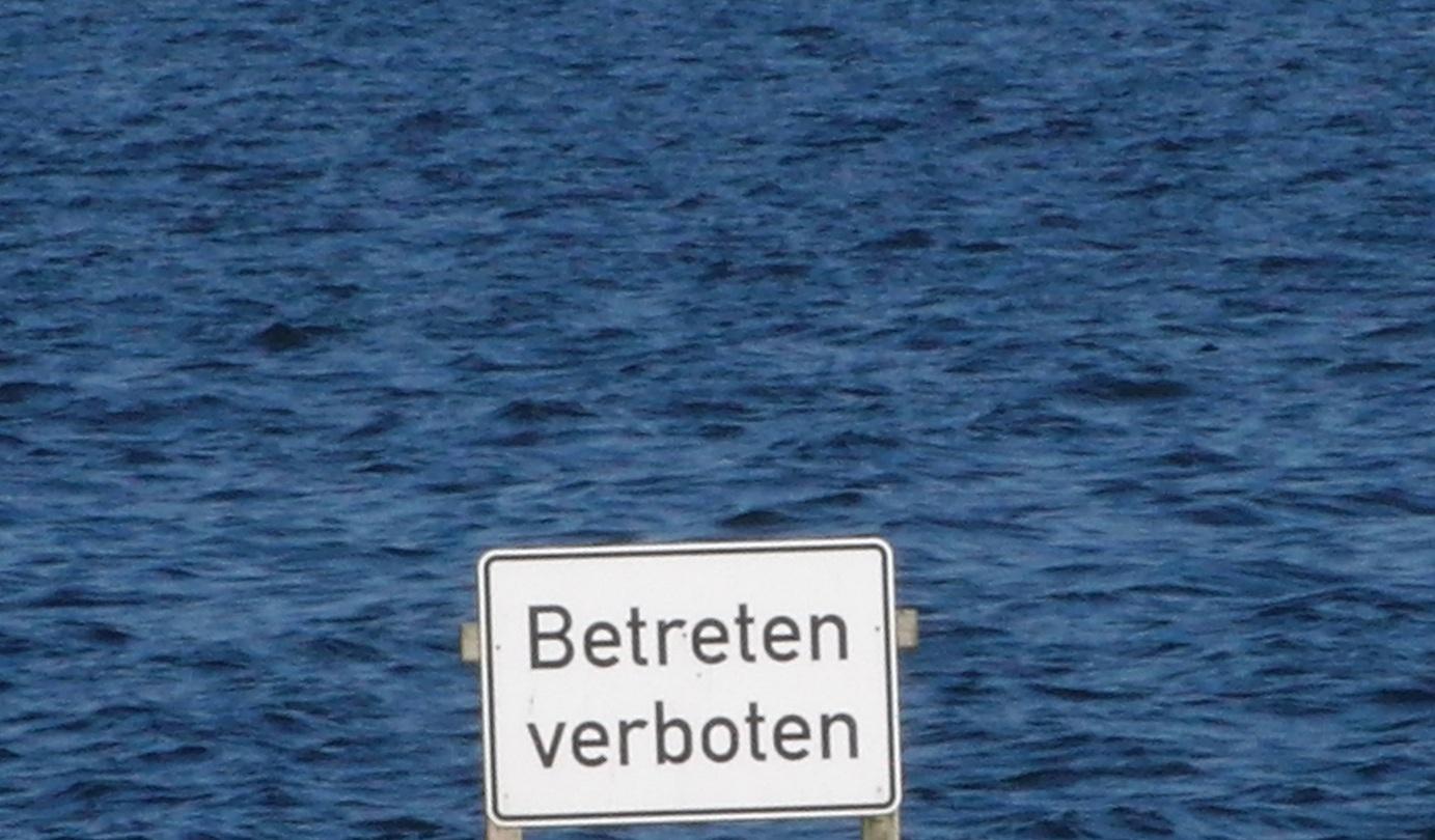 Übers Wasser gehen..
