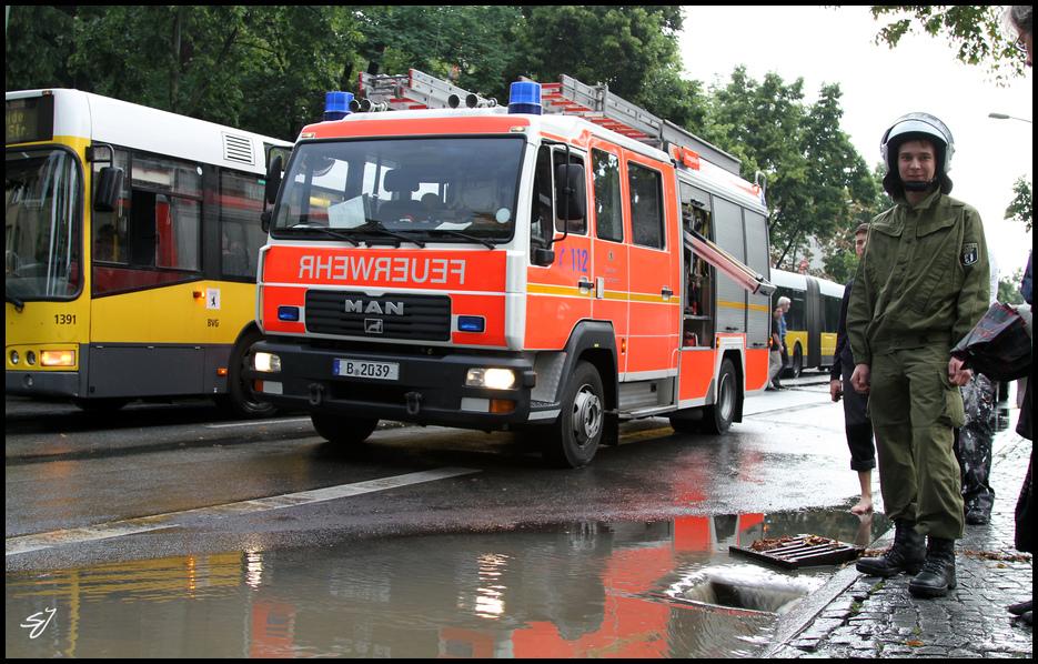 Überschwemmung Berlin Lichterfelde