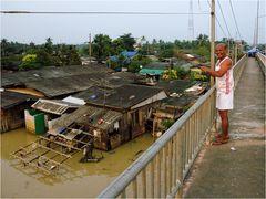 Überschwemmung in Phun Phin