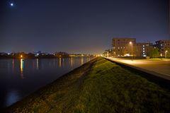 Überseestadt in der Nacht