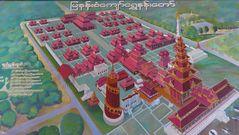 ...Übersicht über den Königspalast in Mandalay...