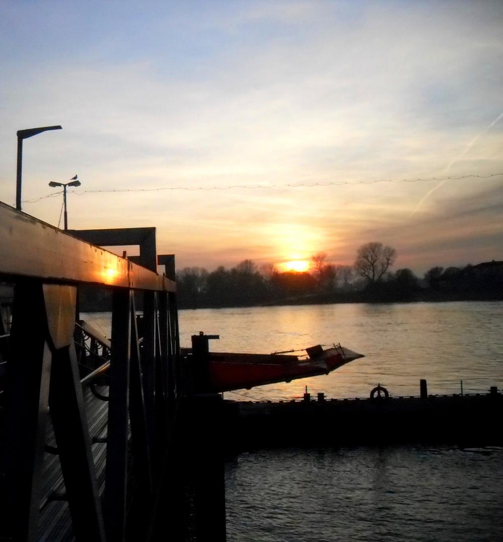 Ufer am Abend