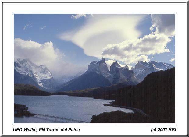 UFO-Wolke, PN Torres del Paine
