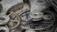 Uhrwerk einer alten Taschenuhr