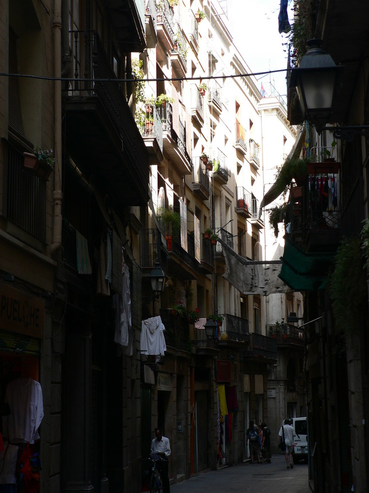Uliczke znam w Barcelonie...